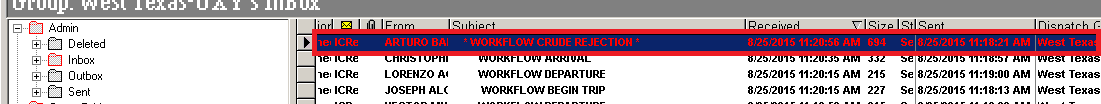 Crude Rejections